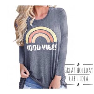 NWT 🎄 Long Sleeve Good Vibes Tee SZ S M L 🎄